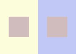 Optische Täuschung beim Farbsehen